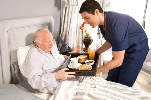 Home care for bed-ridden, ill or injured seniors