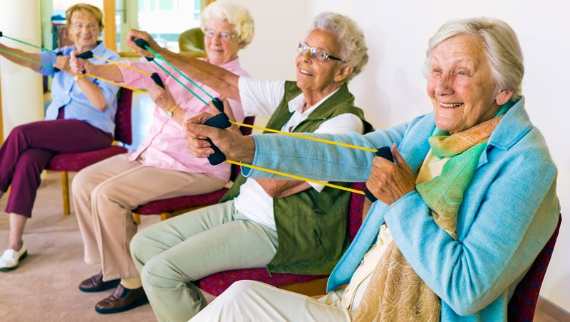 Seniors maintaining active lifestyles and hobbies