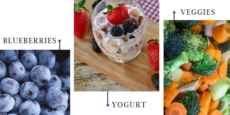 Blueberries, Yogurts, Veggies - Immune Boosters